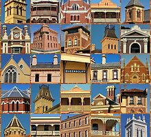 Queenscliff Architecture Collage by Andrew Turner