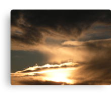 Retreating Sundown Storm Canvas Print