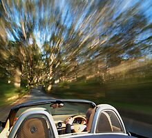 Porsche Boxster on the move by supersnapper