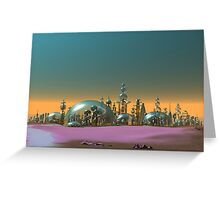 City of Glass Gold and Silver Greeting Card