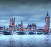 British Parliament in London & Big Ben by Chad Kruger