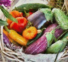 Farm - Fresh Vegetables by Mike  Savad