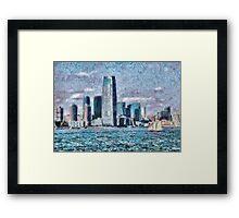 NY - City of the future Framed Print
