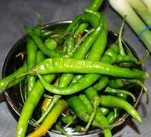 Green Chillies by Santosh Puthran