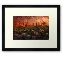 Desert Burn Framed Print