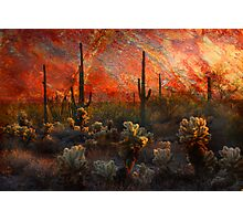 Desert Burn Photographic Print
