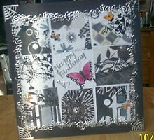 Black & Silver 9 Square Collage Card by Gortsmum