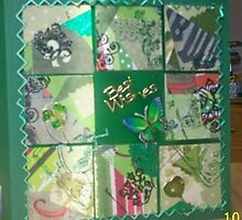 Green 9 square collage card by Gortsmum