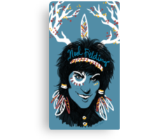 Noel Fielding: Blue Diamonds Canvas Print