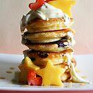 Mini Blueberry Pancakes with Mango Stars & Strawberry Hearts by mjds
