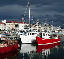 A Moody  Hobart harbour by Julie Sleeman
