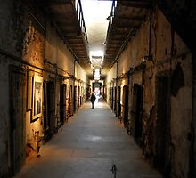 Long view of cell block  by Jeff Stroud