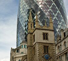 St. Katherine Cree with the Gherkin by Jonathan Doherty