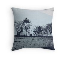 Picture of Piney Point Lighthouse and Bell Tower. Throw Pillow