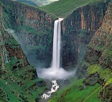 The Maletsunyane Falls,Lesotho,Africa by leksele