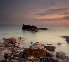 The Calm Sea At Portpatrick by Brian Kerr