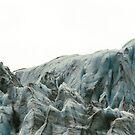 Glacier Ice on White Sky by middleofaplace