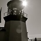 Black and White Lighthouse by photodork