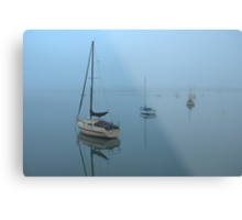 Mist across the Bay Metal Print