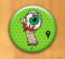 Zombie Eye Button (Limited) by seventhfury