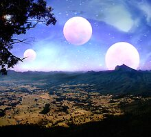 "Moons Rising over Mount Warning - "" Via Nimbin......."" by LividPhoto"