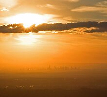 Melbourne from Mt Dandenong by Alex Faulkner