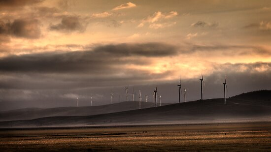 Lake George Wind farm. by DaveBassett