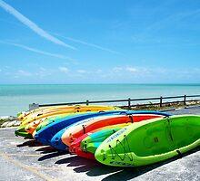 Key West Florida Aquamarine Blue Kayaks primary colors by Rick Short