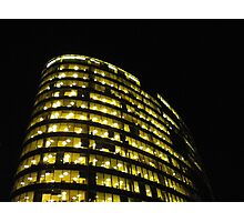 Cityscapes - Nighttime Golden Glow Photographic Print