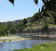 ardeche river near balazuc by jomaot