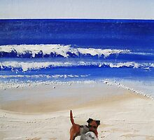 Beach Series - Two dogs by Tash  Luedi Art