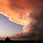 Tornadic storm cloud at sunset by BritGalUSA