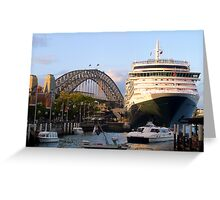 Queen outsizes bridge! Greeting Card