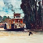 Emmy Lou - Paddle Steamer by Pieter  Zaadstra