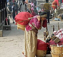 Nepalese lady  by Matt Eagles