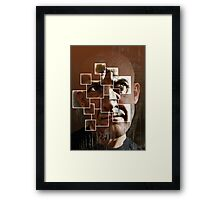 fear lies within the frame Framed Print