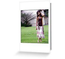 Hippie Girl Greeting Card