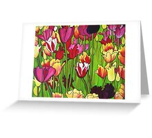 My Heart's in Tuliptime Greeting Card