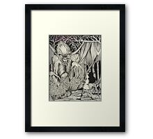 THE DARK WOOD Framed Print