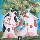 COW SHEEP PICNIC by gordonbruce