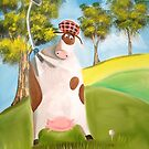 COW GOLFER by gordonbruce