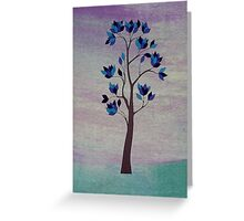 Blue Leaf Tree Greeting Card