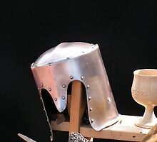 Medieval still life with helmet Kampen by patjila