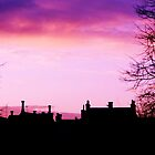 Silhouette of Peebles with Old Parish Church by Sophie MacLeod