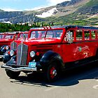 Glacier Park Bus by Bobby Rognlien