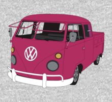Pink Split Screen VW Kombi Pick up by MangaKid