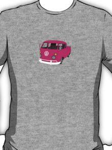 Pink Split Screen VW Kombi Pick up T-Shirt