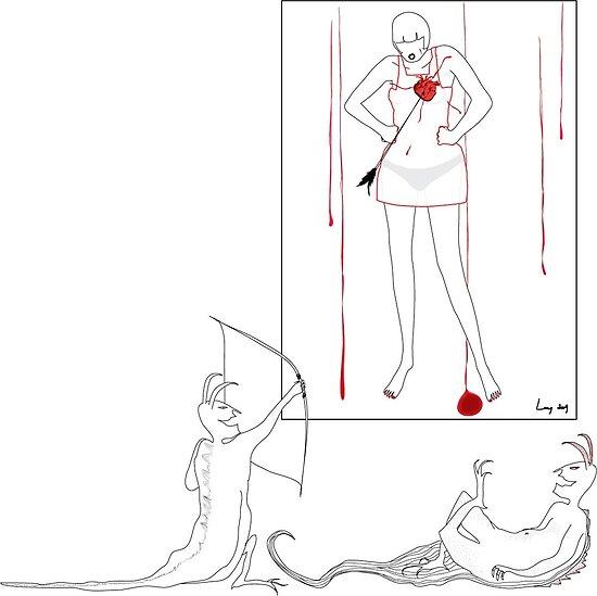 mal au coeur heartache by mademoisellel redbubble. Black Bedroom Furniture Sets. Home Design Ideas