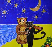 """The Owl and the Pussycat danced by the light of the moon"" by Ilze Coombe"