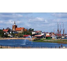 Promenade & Lake in the Spring Sun, Maldon, Essex Photographic Print